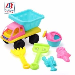 Wholesale 6PCS Plastic Summer Beach Toys Set Sand Toys with Net Bag