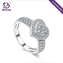 Wholesale promotion 925 silver rhodium plated ring for anniversary
