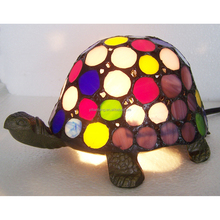 multi color turtle tiffany lamp stained glass accent animal lamp home furnishing