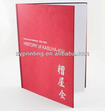 A4 Deluxe hardcover book, casebound books