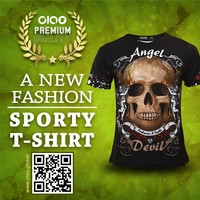 Ciao Sportswear creepy elastic skull and angel 2016 latest fashion tshirt