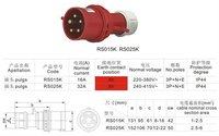 CCC CE Industrial Plug Industrial Socket Industrial Coupler IP44 16A 32A electrical Plug&socket&connector