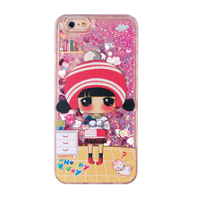 liquid glitter girl cell phone case for iphone 5 5s se 6 6s 6plus 7 7plus 8 8plus X