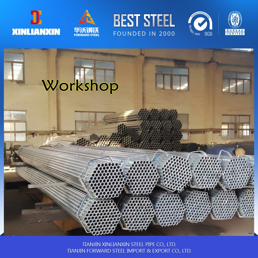 tianjin factory made in china Building material Q195/Q235 erw welded pre galvanized square structure steel pipe/tube