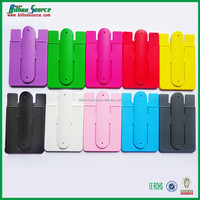 2015 crazy sell silicone back stick card holder