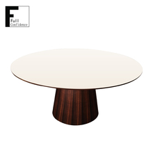 Modern Tempered Glass Round Dining Table for High-end restaurant
