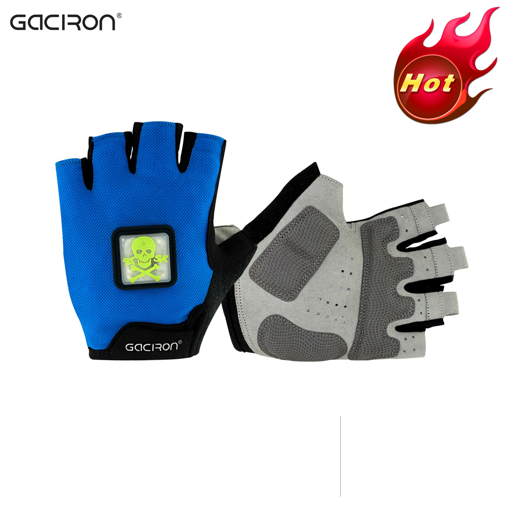 Gaciron Breatheable Bike Bicycle Riding Racing Glove Smart Cycling Glove wirh LED Light