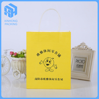 fashionable craft paper bags with cartoon