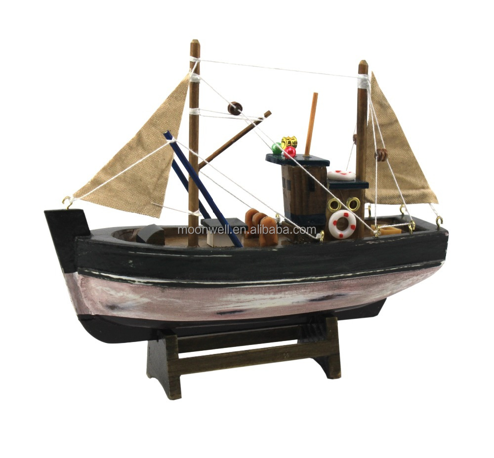 Wooden Fishing Boat Model,Trawler Model,Souvenir,Nautical Gift,Decoration,Handicraft wooden boat,Decorative Boat,boat replica
