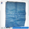 Blue PE raschel plastic mesh food bags for packing seafood