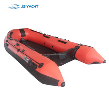 CE Certificated 3.6m Cheap Aluminum Floor Inflatable Fishing Boat with country flag for sale