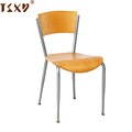 2018 plywood seat and back metal reinforcement restaurant chairs for usa