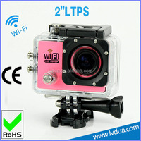 Portable 1080P Sport Action DV Camera Underwater Waterproof Camcorder 5MP Cam for Diving/Surfing/Ski/Bike/Car 2'' Touch Screen