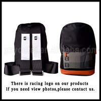 Racing Harness Backpack JDM Bag Black Large Capacity Brown Bottom Black Sport Backpack Canvas