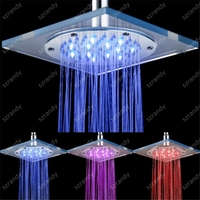 (blue-pink-Red) color Bathroom light colors changing best shower head