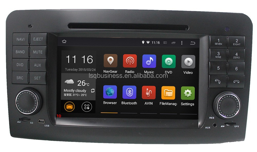 Pure Android 4.4.4 Car DVD for Mercedes ML GL Class W164 X164 2005-2012 Dual Core 1.6G GPS Navigation Radio Stereo System