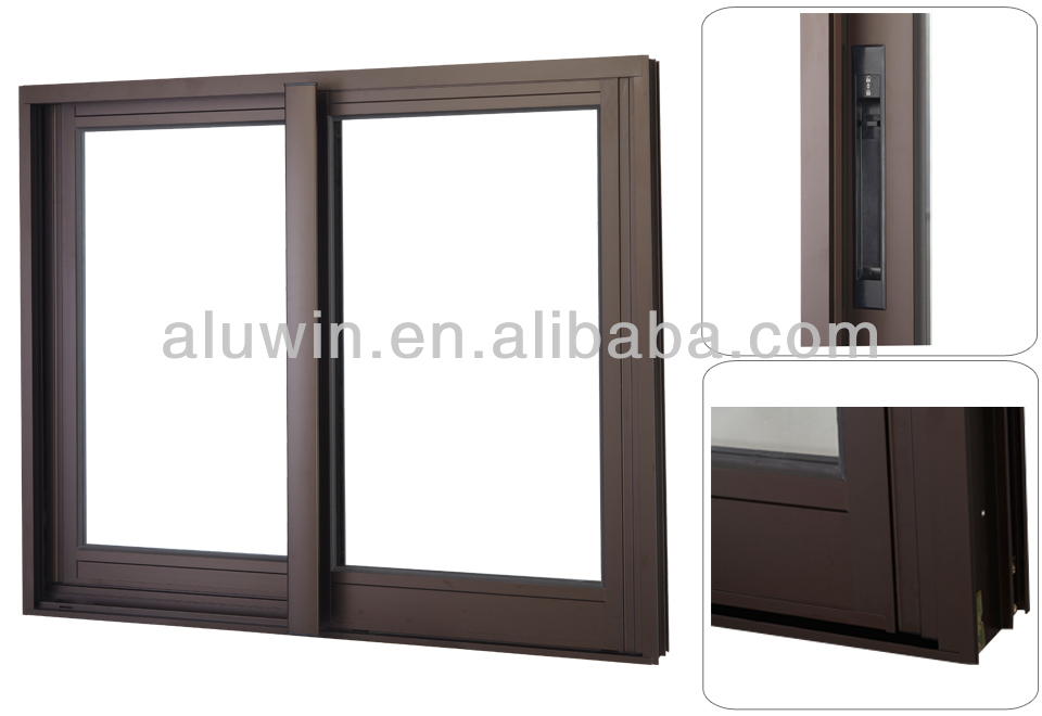 Thermal break aluminium sliding window with double glass for Thermal windows prices