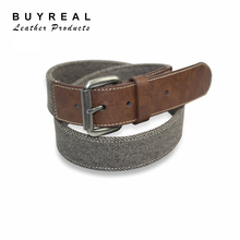 Industrial Canvas Belt Men canvas belts with PU custom Canvas belts for sale