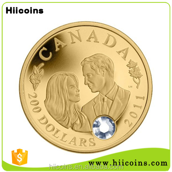 China wholesale gold coin and custom wedding coins