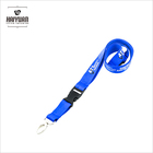 blue customized logo ID neck lanyard for wholesale, as promotion