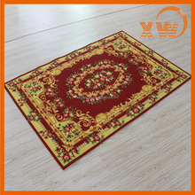 Soft custom printed hot sale polyester fiber shaggy silk prayer rug