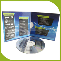 Music CD replication and 4panel cardboard sleeve packing by China factory