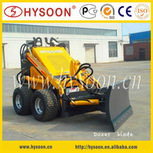 HYSOON CE certificated small loader with snow plow