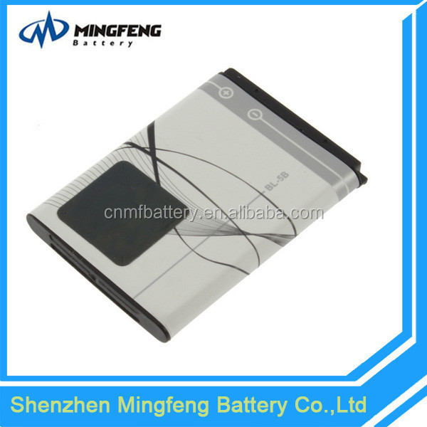 High quality OEM replacement bl-5b mobile phone battery for nokia 3220/3230/5070/5140/6020/6021/6060