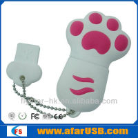 2015 Wholesale Free sample cartoon cat paw usb flash drive 8GB 16GB 64gb USB Memory Stick
