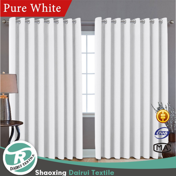 Elegant solid blackout window curtain,low price curtain wholesale grommet
