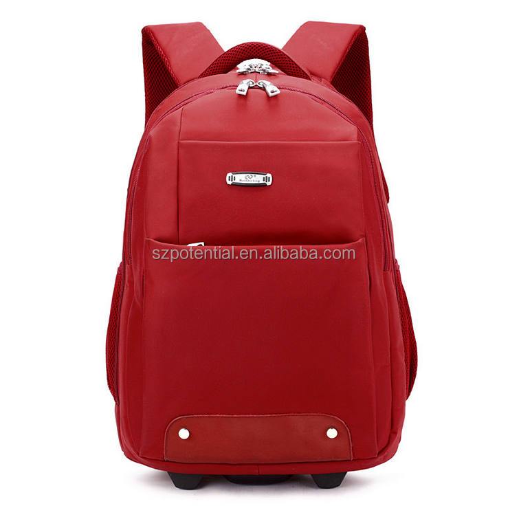customed school backpack with laptop compartment computer troller bag with pull rod