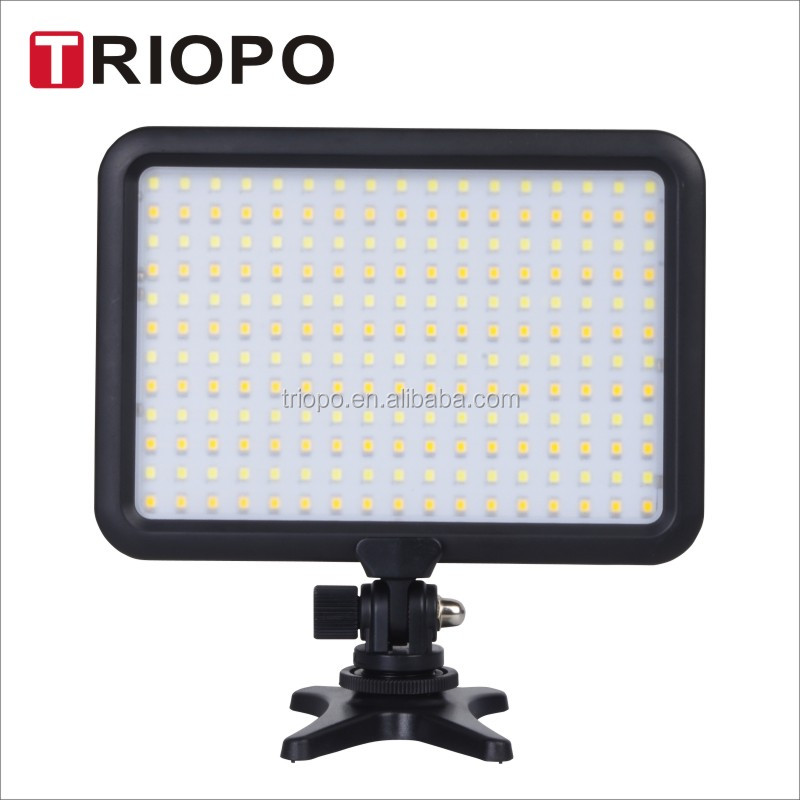 Triopo TTV-204 Led Super Slim Studio Video Light with Dual Color Temperature 3200K-5600K and CRI 88 and battery and charger
