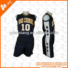 Digital print sublimation reversible basketball jersey