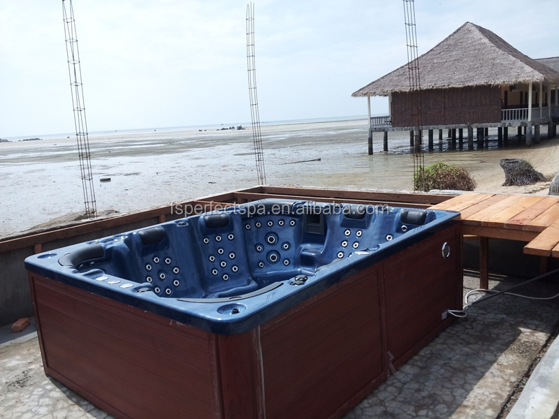 Popular outdoor massage spa Function 8 person bathtub whirlpool china