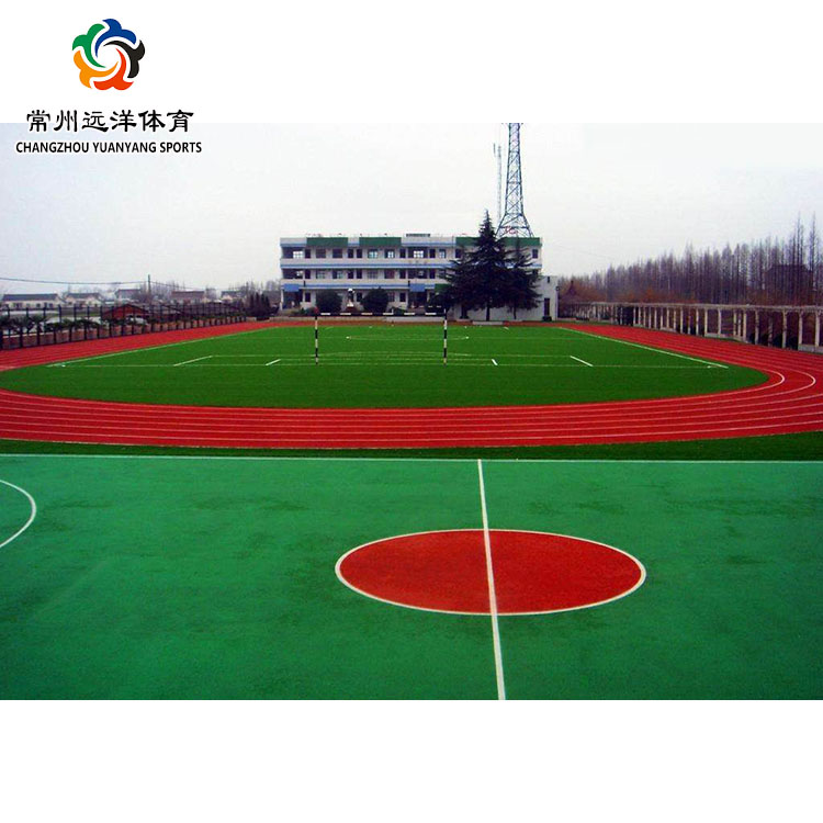 High quality synthetic silicon pu badminton court basketball court stadium running track floor