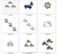 Factory price Christmas charms floating living charm for floating living memory locket as kids friends gift