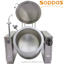 soppas Heavy Duty Large Capacity 200 Liter Electric Tilting Boiling Pan for Industrial Kitchen