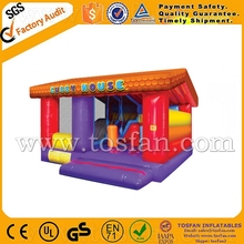Kids play center inflatable trampoline bouncing castle A3014