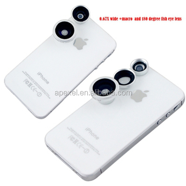 3 in1 detachable magnetic lens for iPad 5 /mobile phone /digital cameras