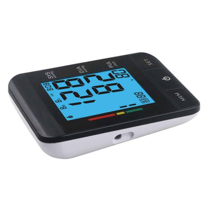 High quality automatic upper arm digital USB blood pressure monitor with blue color backlight