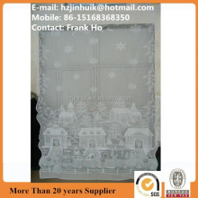polyester lace Christmas latest curtain designs 2012 curtain with Christmas snow