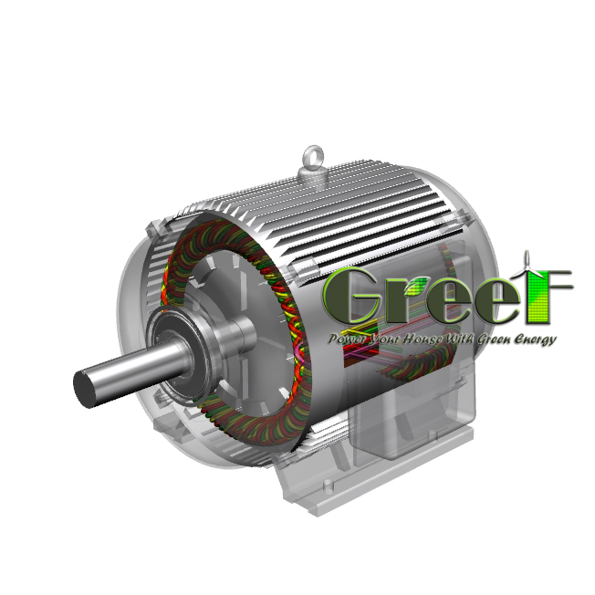 200KW 450RPM Low Speed , Three Phase AC , Low RPM Permanent Magnet Generator