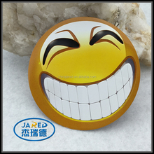 Custom laughed face cartoon design car sticker with your own personality