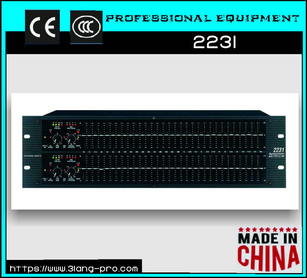 2231 Professional Stereo Dual 31-Band Graphic Equalizer