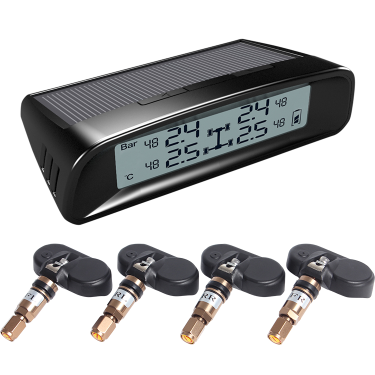 Solar Power tpms,Tire pressure monitor system with internal sensor tire pressure gauge