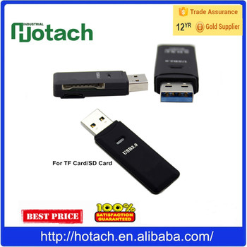 2 in 1 USB 3.0 Memory Card Reader For TF Card SD Card