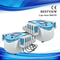 12 Paddles 650nm & 980nm Double Wavelength Lipo Laser for Body Slimming Laser Fat Removal