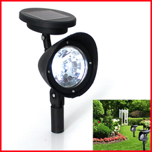 Free Shipping! Solar 4-LED Garden Lamp Spot Light Lawn Landscape Party Path Outdoor Spotlight