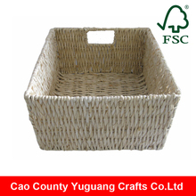natural material rectangular woven bathroom laundry storage basket