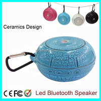 Ceramic Design Portable Outdoor Mini LED Bluetooth Speaker With Keychain Climbing
